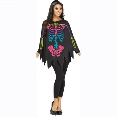 Skeleton Poncho - Multi Color