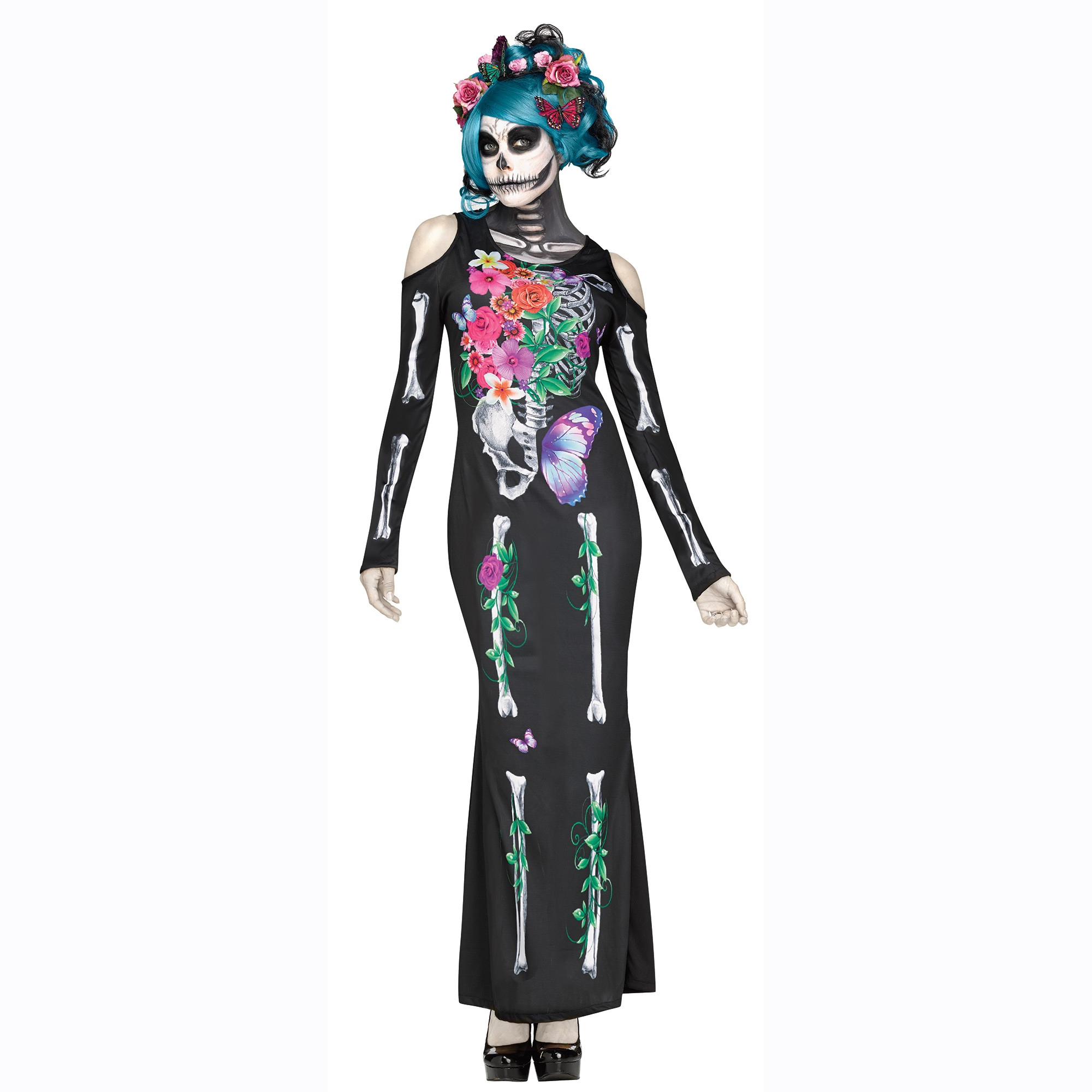 Beautiful bones skeleton dress