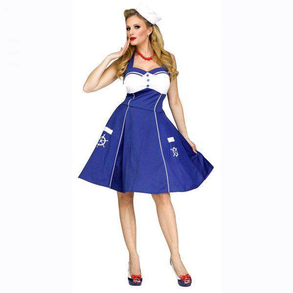 Sweet Sailin' 1940 Style Ladies Sailor Dress
