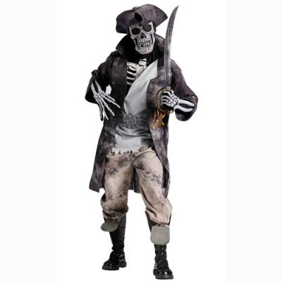 Skeleton ghost pirate costume