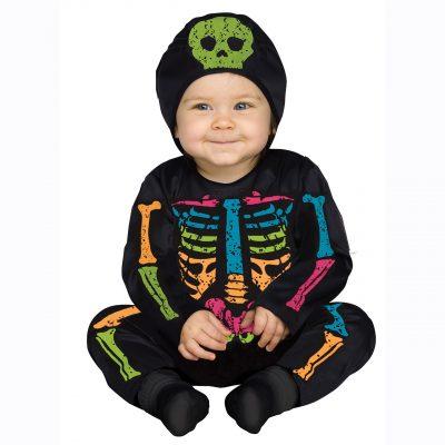 Color Bones Infant Skeleton Costume