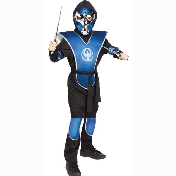 Chrome Raven Ninja Kids Costume