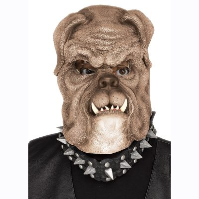 Brown Bull Dog Mask