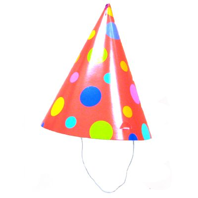 Polka Dot Conical Birthday Party Hat