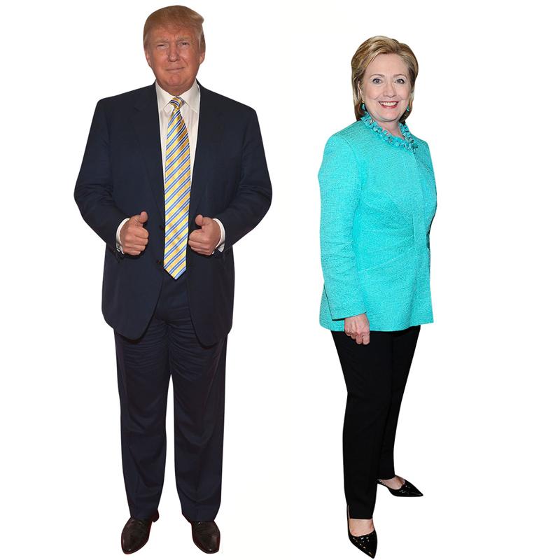 Donald Trump and Hillary Clinton Lifesize Cardboard Stand-ups