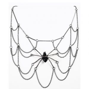 Costume Witches Wizards Metal Spider Web Necklace