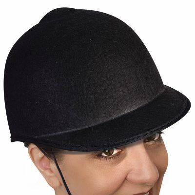 Black Felt Equestrian Horse Show Riding Hat