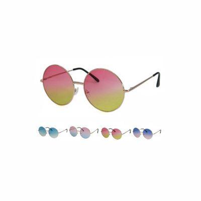 Large Round Shaded Lens Sunglasses