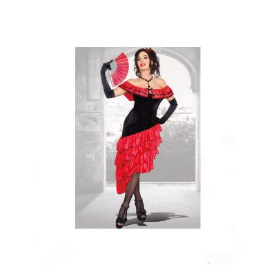 Spanish Dancer Adult Halloween Costume Dress