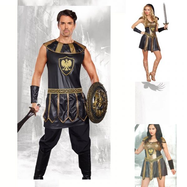 Deadly Warrior Male, Female, or Couples Costumes