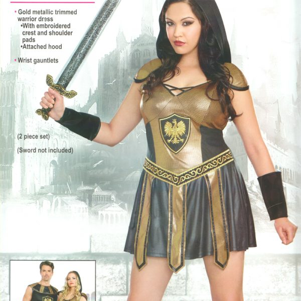 Deadly Warrior Female Plus Size Halloween Costume