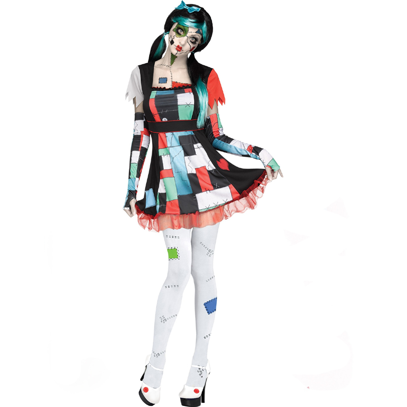 Ladies Rag Doll Costume Dress