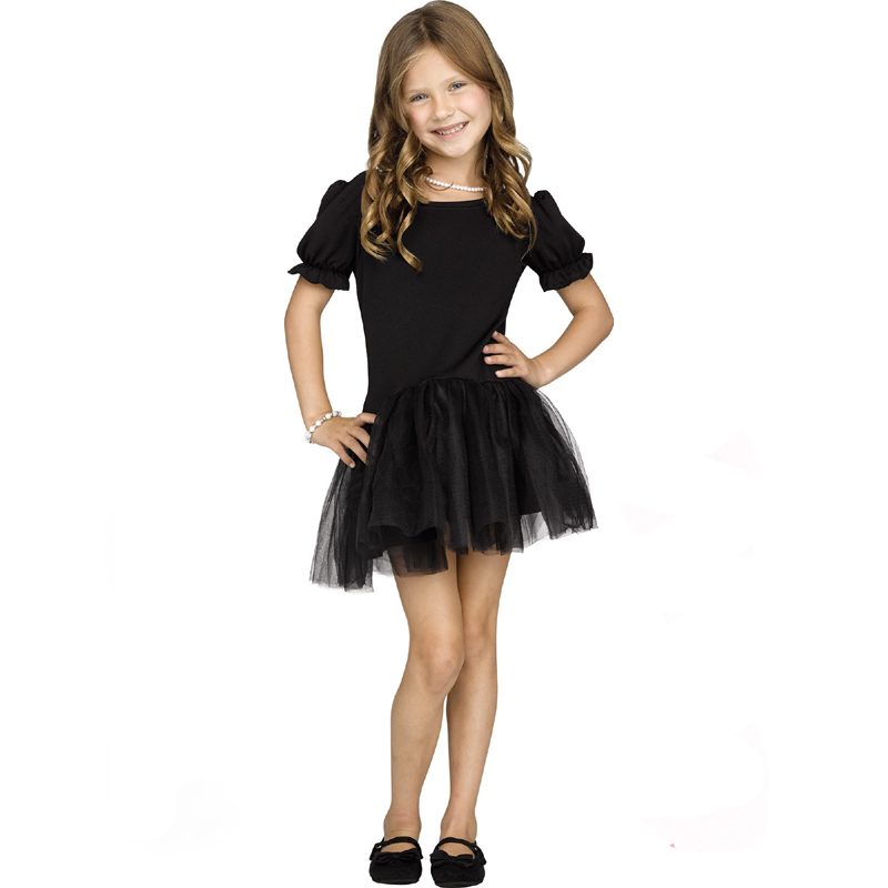 Pettidress - Girls Black Tutu Skirt Dress