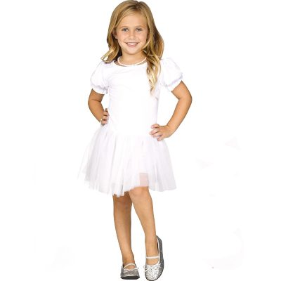 Pettidress - Girls white tutu skirt dress