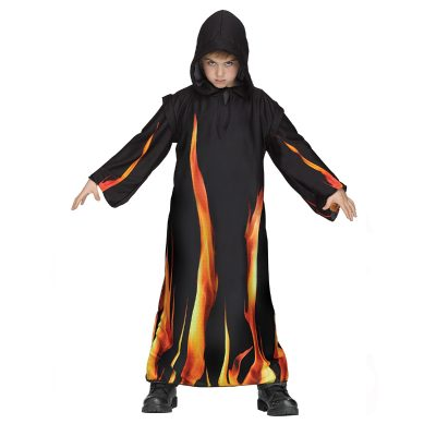Childs Black Hooded Burning Robe