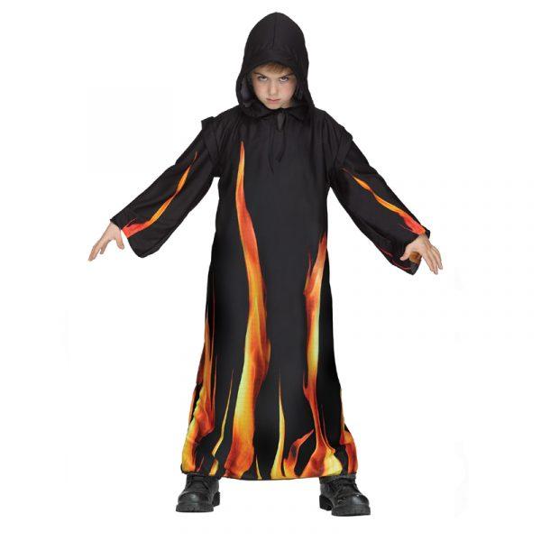 Childs Black Hooded Burning Robe
