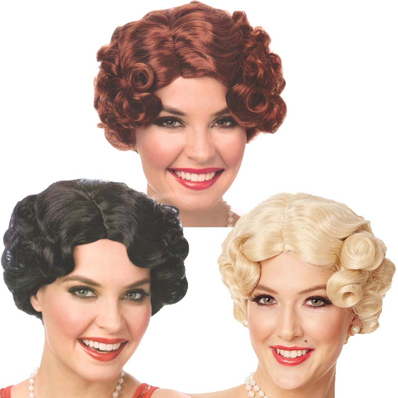 Daisy Flapper Red Wig One Size
