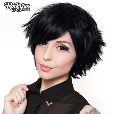 Boy Cut Short Black Cosplay Wig