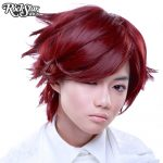 Boy Cut Short Burgundy Cosplay Wig