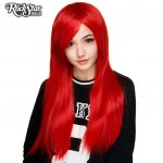 True Red Long Cosplay Wig