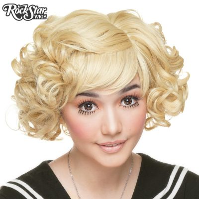 Blonde Curly Lolita Bob