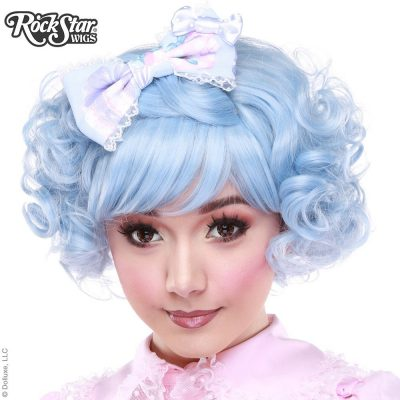 Curly Lolita Bob - Sax Fade (Light Blue White Mix)