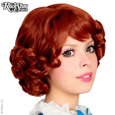 Curly Lolita Auburn Rust Bob