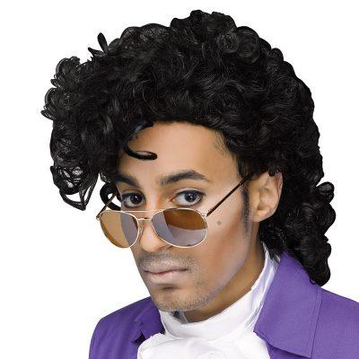 Rockin 80s Prince Like Black Wig