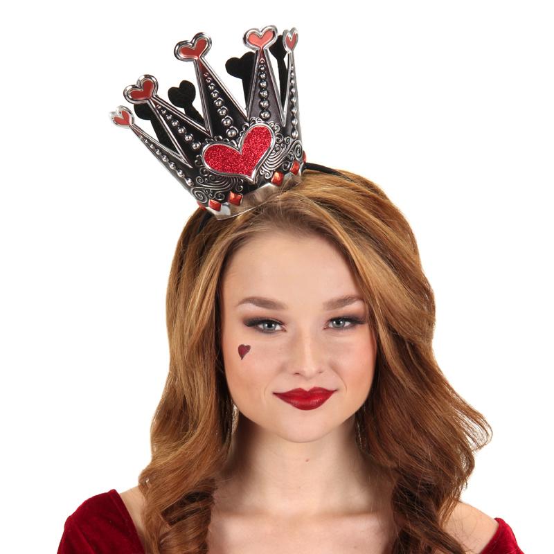 Queen of Hearts Vinyl Sparkle Crown