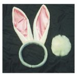 Bunny Ears and Tail Halloween Costume Accessory Kit