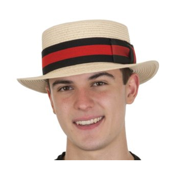Natural Fabric Skimmer Hat with Wide Band