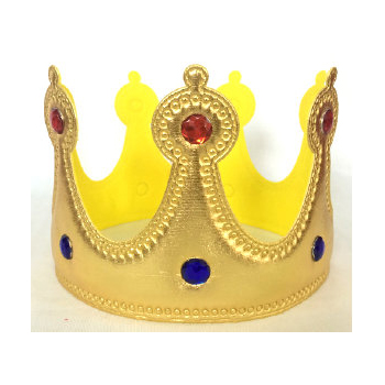 Lamé Jeweled Fabric Child's Crown