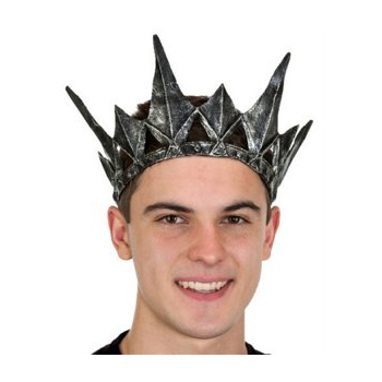 pewter latex spiked crown halloween costume accessory