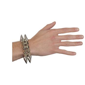Metallic Spike Bracelet Halloween Costume Accessory