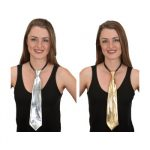 Metallic Fabric Adjustable Long Tie