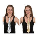 Metallic Fabric Adjustable Long Tie