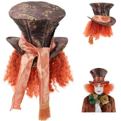Mad Hatter hat w hair