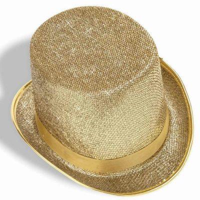 Metallic Mesh Fabric Top Hat