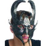 Molded Mache Dragon Face Halloween mask