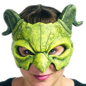Supersoft Foam Halloween Mask Green Dragon