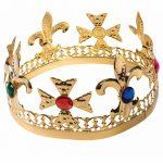Gold Metal Jeweled Crown