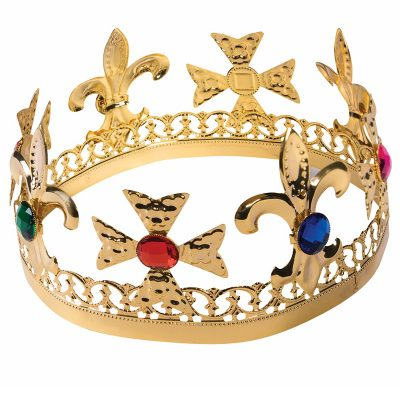 Gold Metal Jeweled Crown