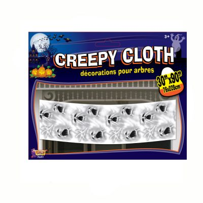 30 Inches By 90 Inches Ghost Faces Creepy Cloth