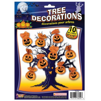 Jack-O-Lantern Halloween Decoration Tree Bags