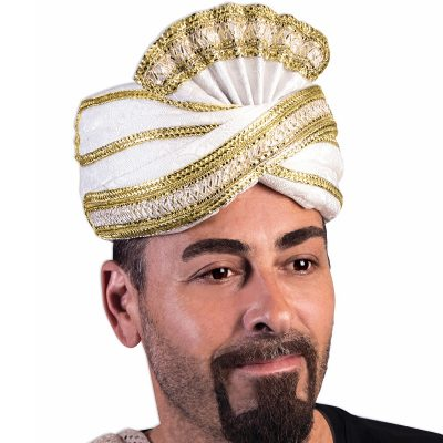 Deluxe Trimmed Fabric Sultan Hat