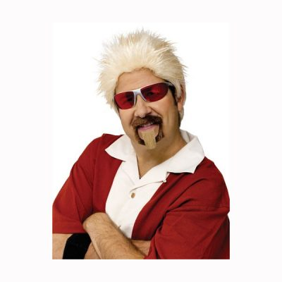Celebrity Chef Wig and Goatee Halloween Costume Set