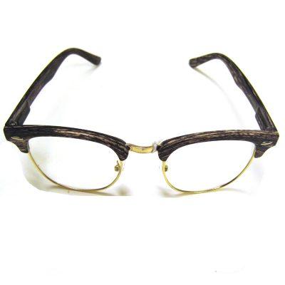 Imitation Bamboo Frame Clear Lens Eyeglasses