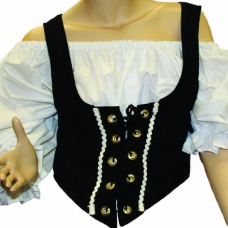 Female Renaissance Adult Costume Vest