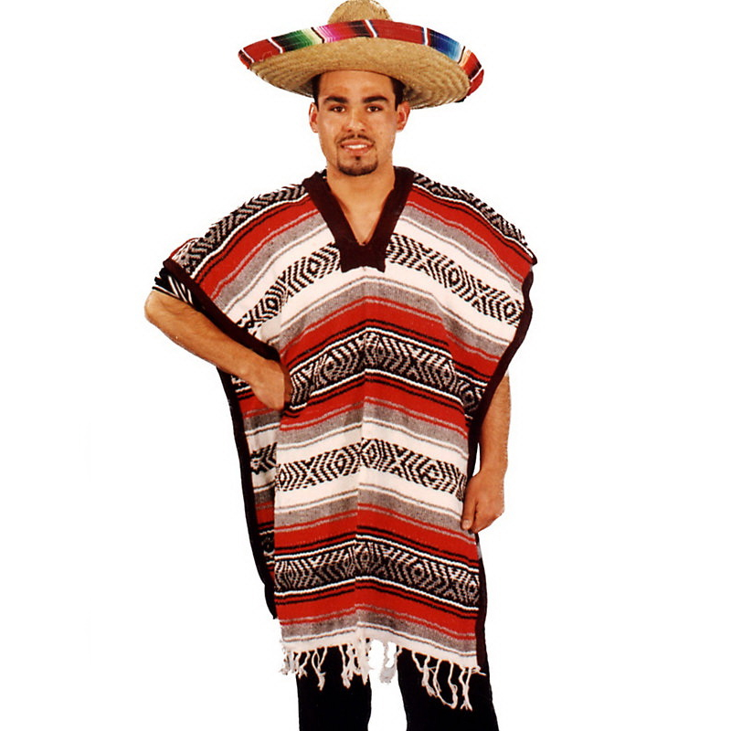 Buy Poncho Mexican Halloween Costume - Cappel's