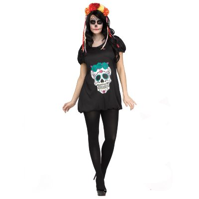 Day of the Dead Romper- Adult Halloween Costume
